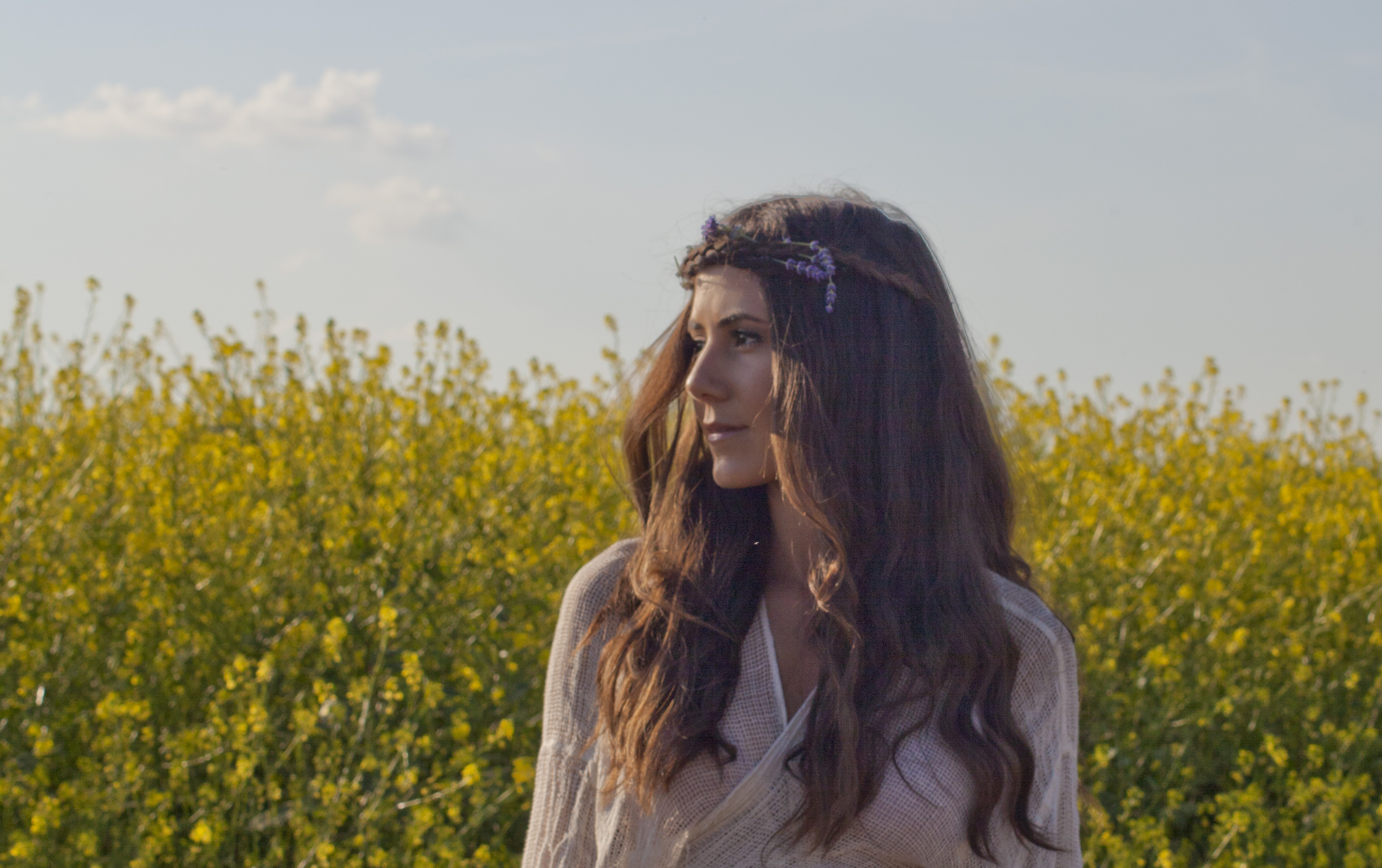 Courtney Scott Travel Style yellow flower fields