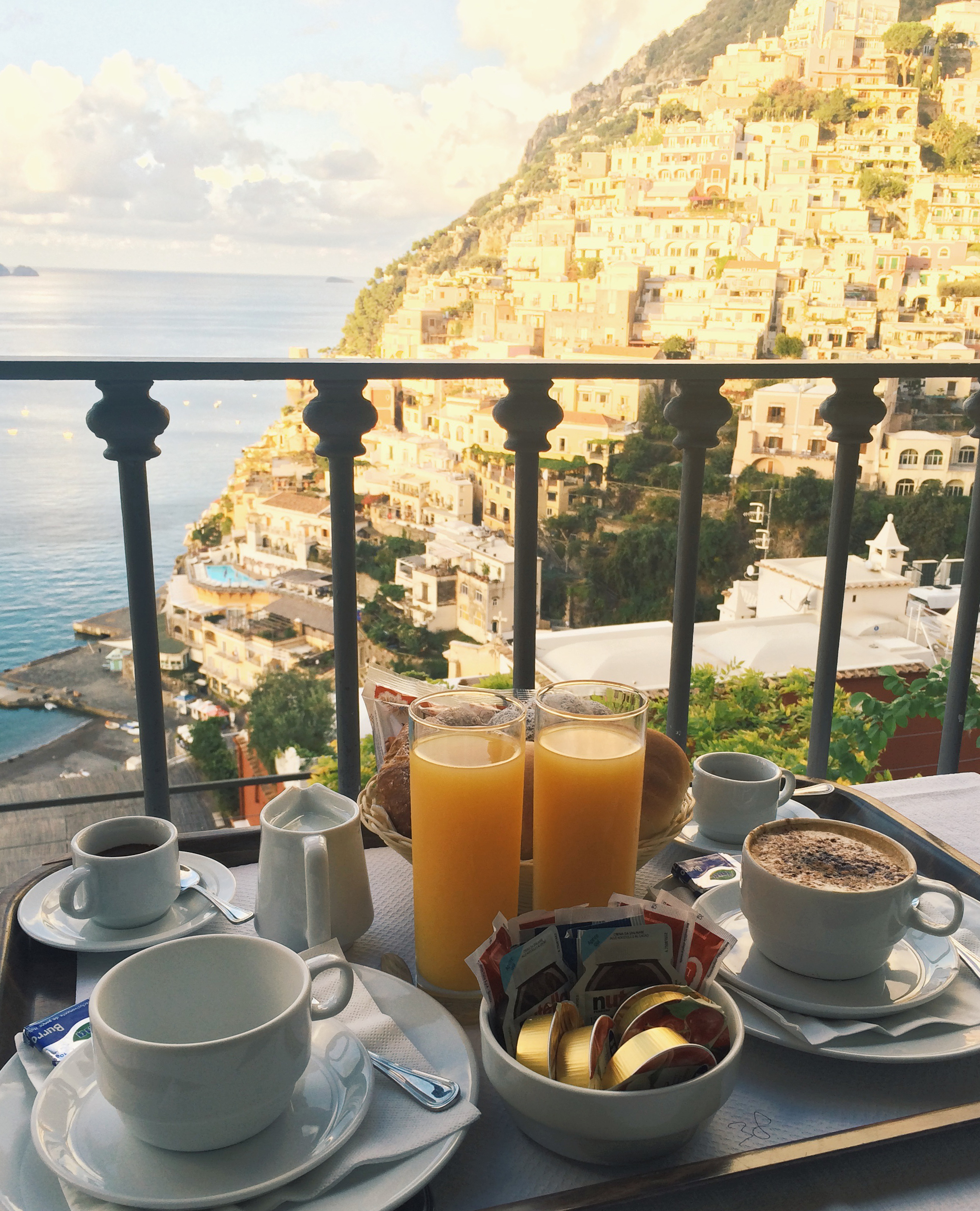 Villa Rosa Positano View Breakfast