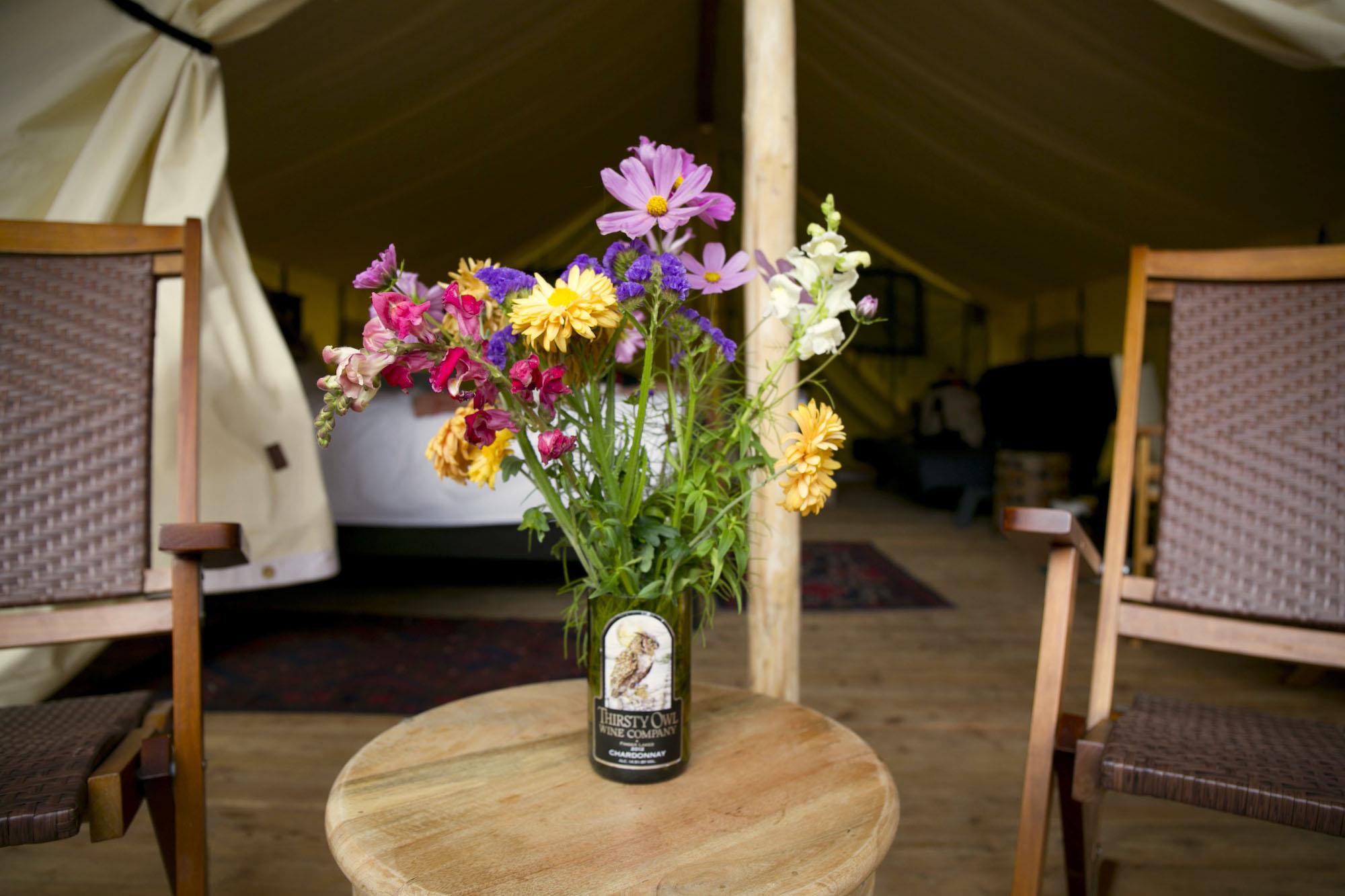 flowers porch tent
