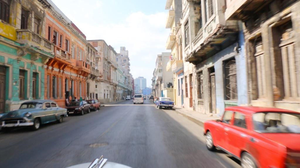 Driving in Havana Cuba