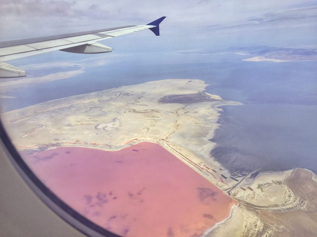 Pantone's Color of the Year Pink Lake in Utah