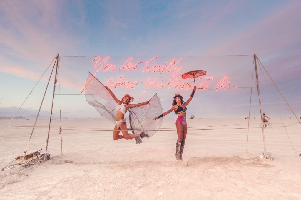 Pantone's Color of the year Your are Exactly Where you need to Be Burning Man