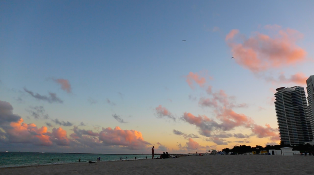 Sunset in South Beach, Miami